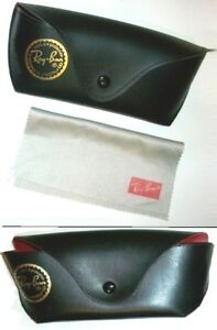 2 vintage Ray-Ban Sunglass CASES + cleaning cloth