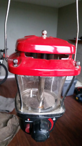 Propane Camping Lantern with stand and bottles