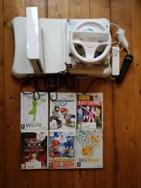 Nintendo Wii Bundle with Wii Fit Board and more