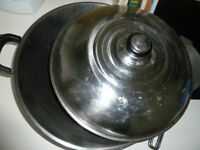 STAINLESS STEEL STIR FRY WOK