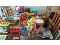 Job lot toys and books car boot