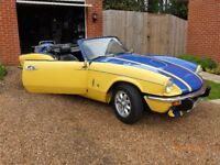 triumph spitfire long mot good condition overdrive minolite wheels sports exhaust good runing order