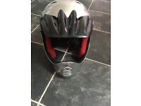 2x motorbike style kids bicycle helmets