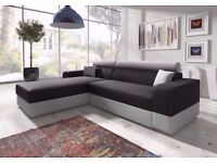💥CONTEMPORARY DESIGN🔥BRAND NEW ITALIAN CORNER SOFA FABRIC SOFA BED WITH STORAGE SLEEPER or 3seater