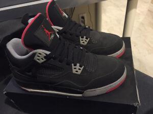 Jordan 4 retro size 7Y Bred Black Cement Bred