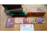 Zumba fitness dvd collection and toning sticks