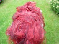 140 RED SATIN WEDDING CHAIR SASHES.