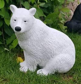 Polar bear ;cast stone garden ornament
