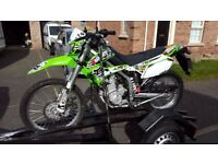 KAWASAKI, NOT HONDA, SCRAMBLER, ROAD LEGAL, NOT SUZUKI, 250 KLX, FMF EXHAUST, TRAIL BIKE, FULL MOT,