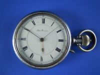 JOHN BENSON POCKET WATCH c1800s WITH STEAM TRAIN ENGRAVED & WORKING