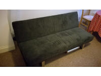 Sofa bed (3 positions) in perfect condition. Easy to carry as removable in 2 pieces.