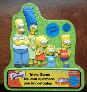 The Simpsons- trivia Game 25$