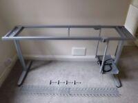 "IKEA GALANT 63"" OFFICE DESK FRAME WITH LEGS, CABLE MANAGEMENT ORGANIZER & UNDER DESK COMPUTER HOLDER"