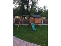 Childs Wendy house and swing and slide
