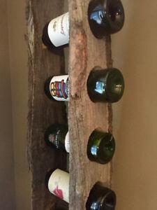 Reclaimed Barnboard Wine Racks