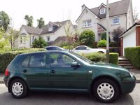 (2001) VW GOLF 1.6 S 5dr AUTOMATIC ONE LADY OWNER/ONLY 65K MILES/FSH+INVOICES/MOT 1 YR/VERY ORIGINAL