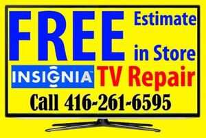Insignia TV repair LED HDTV, LCD TV, NO POWER, Free Estimate