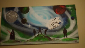 Star Wars Inspired Original Spray Painting - Mint Condition