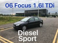 DIESEL £1275 2006 Ford Focus TDi 1.6l* like ASTRA MEGANE CIVIC GOLF MONDEO VECTRA PASSAT ,