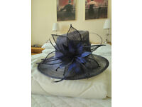 Navy blue wedding hat