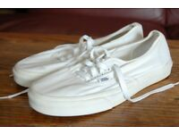 Vans White Trainers, Size UK 8.5, US 9