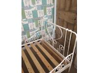 Metal bed frame with trundle