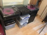 Technics SL1210 MK2 pair and pioneer DJM 500