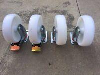 Set of 4 150 mm Nylon Castor Wheels