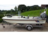 17ft Del Quay Dory boat and trailer