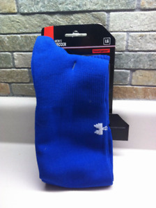 New in package. Men's L Under Armour Royal Blue Soccer Socks