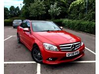 2008 MERCEDES C220 AMG SPORT CDI 2.1 DIESEL AUTOMATIC FULL SERVICE PAN ROOF NOT 320 A4 A5 330 C200