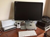 Mac Mini 4 gig memory 1.4Ghz processor HP Monitor plus keyboard and mouse