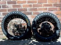 Rieju mrt off road rims whit maxxis tyres and galfer brake discs and back spricket 54t