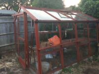 WOODEN GREENHOUSE - FREE - just needs collecting and dismantling