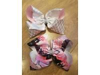 2 x jojo size hair bows