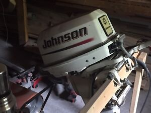 2002 princecraft 14 ft aluminum boat with 25hp Johnson