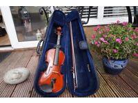 Junior Violin & Bow (with case)