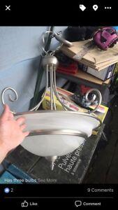 Adjustable hanging kitchen light
