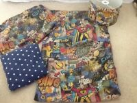 Next superheroes duvet cover, lampshade, fitted sheet, cushion
