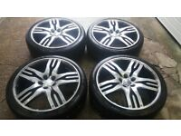 "GENUINE 22"" OVERFINCH OLYMPUS ALLOY WHEELS RANGEROVER T5 T6 TRANSPORTER GOOD TYRES CHEAP BARGAIN"