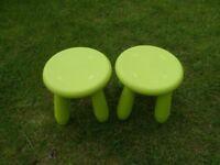 Ikea Childrens Plastic Stools x2