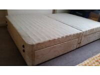 Double Size Bed Frame with 4 Drawers Storage