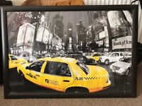 Large New York picture with frame
