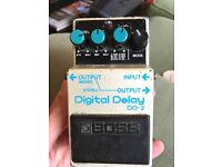 Boss DD2 delay pedal from the 80s