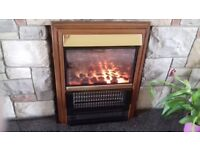Electric fire with coal effect to insert into open fireplace