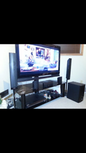 46 inch Sony TV with Sony DvD Player and Surround Sound Speakers