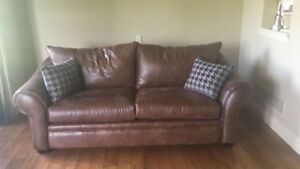 2 Leather Couches for sale