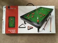 Mini Pool and Snooker Table