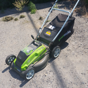Greenworks 40V Lithium Cordless Lawn Mower, 16-in
