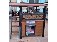 NEW large cat s /small dog s /kittens play house secure dry,cosy - cold rain wind stay dry warm